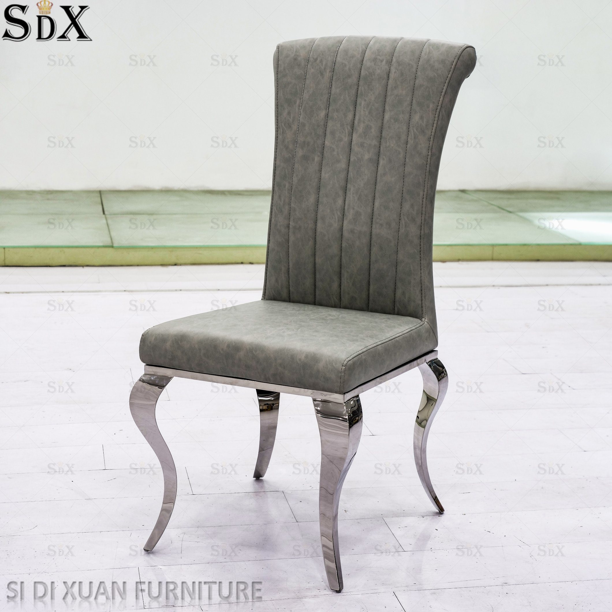 Hot Item European Style Stainless Steel Dining Room Chair Home Furniture