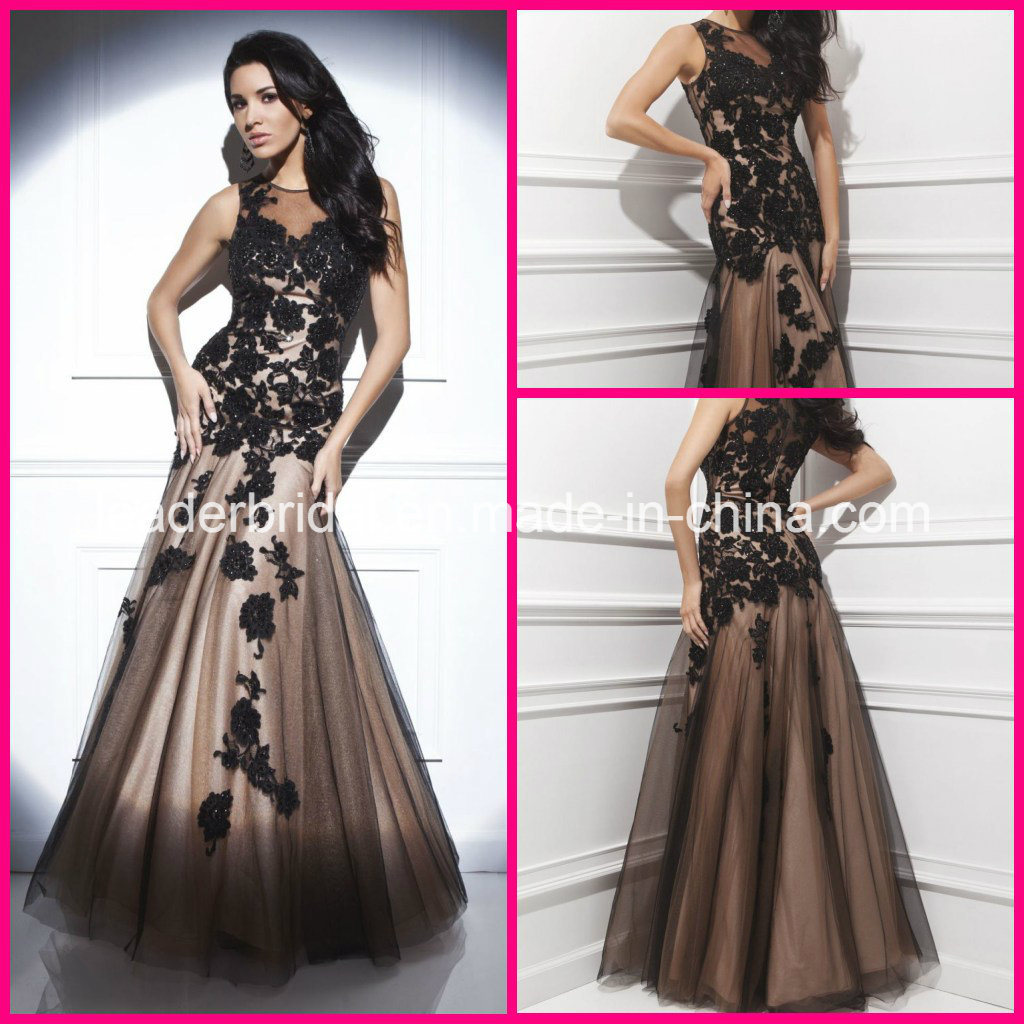 china beads formal gowns black lace sequins evening