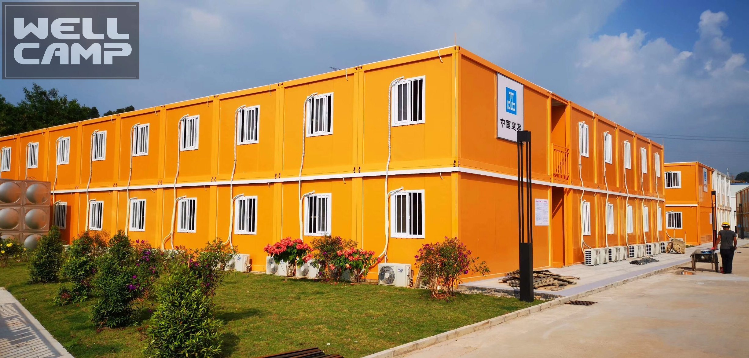 Prefabricated Labor Camp Flat Pack Container House Prefab Site Houses Offices