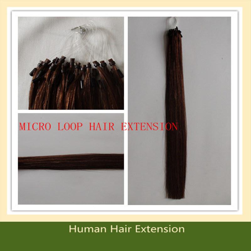 China Micro Ring Human Hair Extensions Keratin Hair Extension Ring