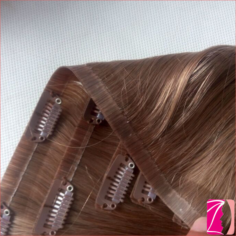 China Wholesale Best Tangle Free No Shedding Seamless Clip In Hair