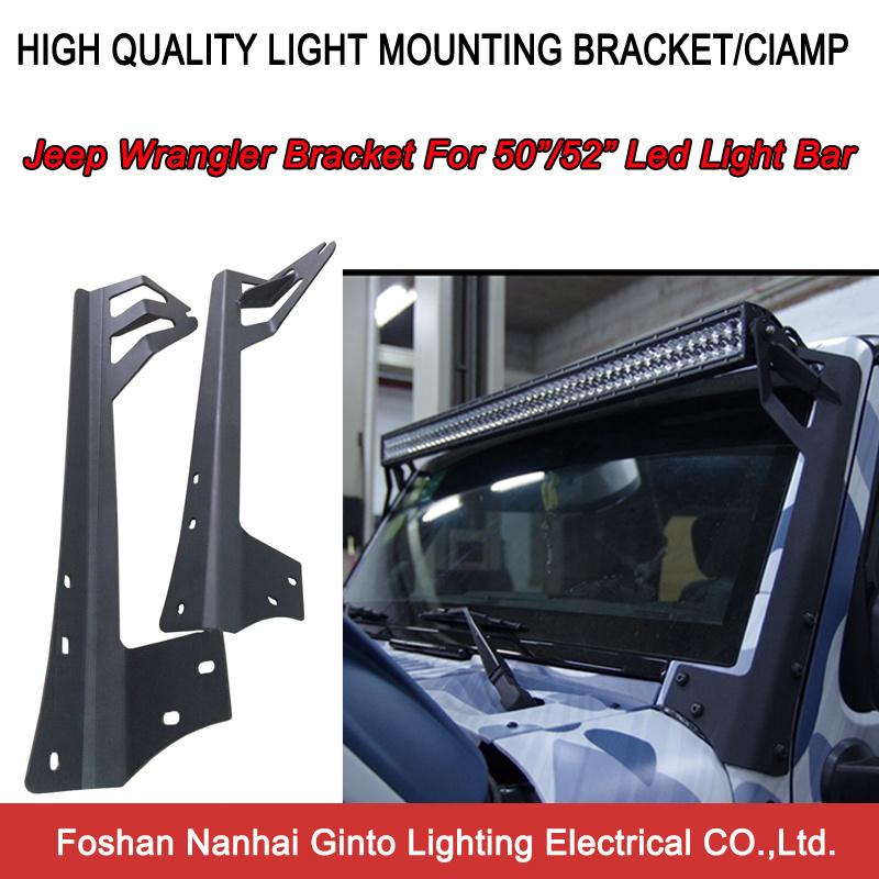 Mounting Brackets for Jeep Wrangler JK 50inch 288W LED Light Bar 250W+Wiring Kit