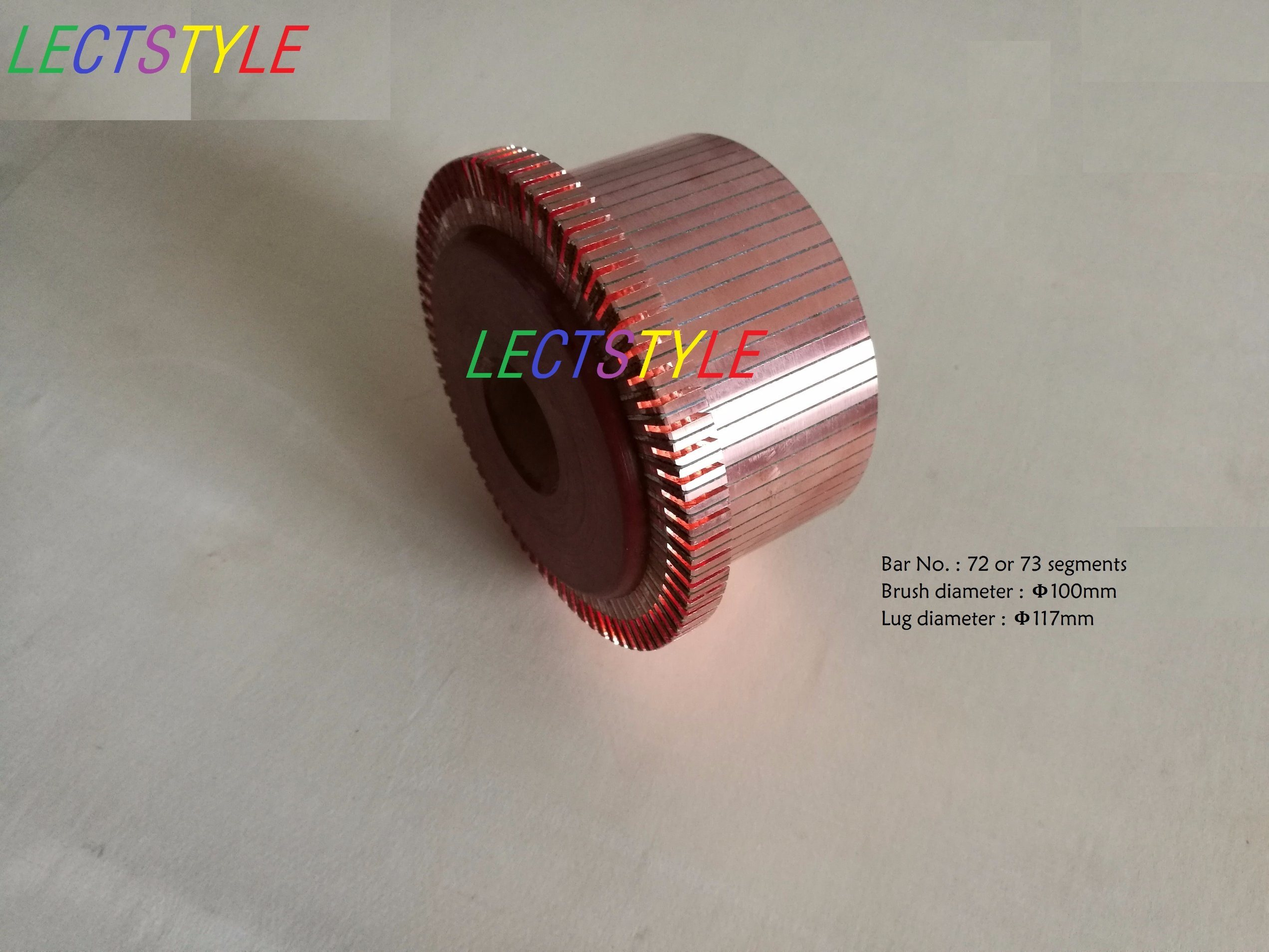 China Forklift DC Motor Groove Type Commutator with 72 Segment or 73 ...