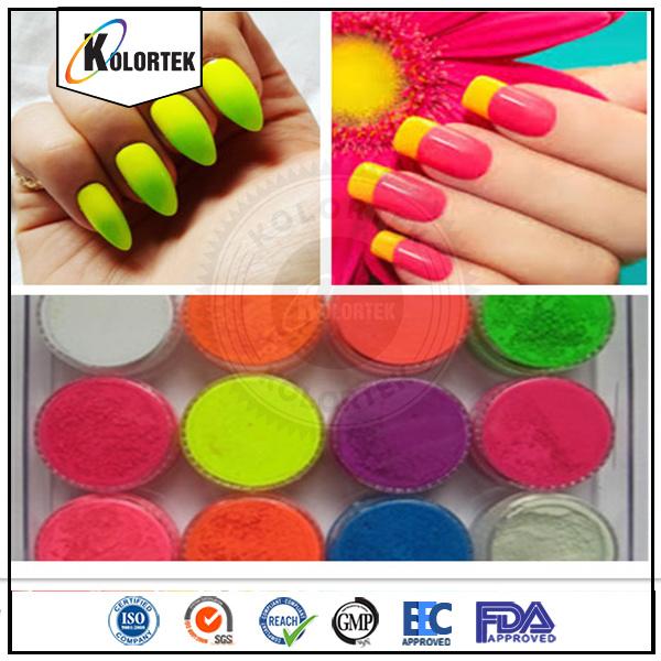 China Neon Nail Polish Powder Pigment, Fluorescent Color Pigment ...