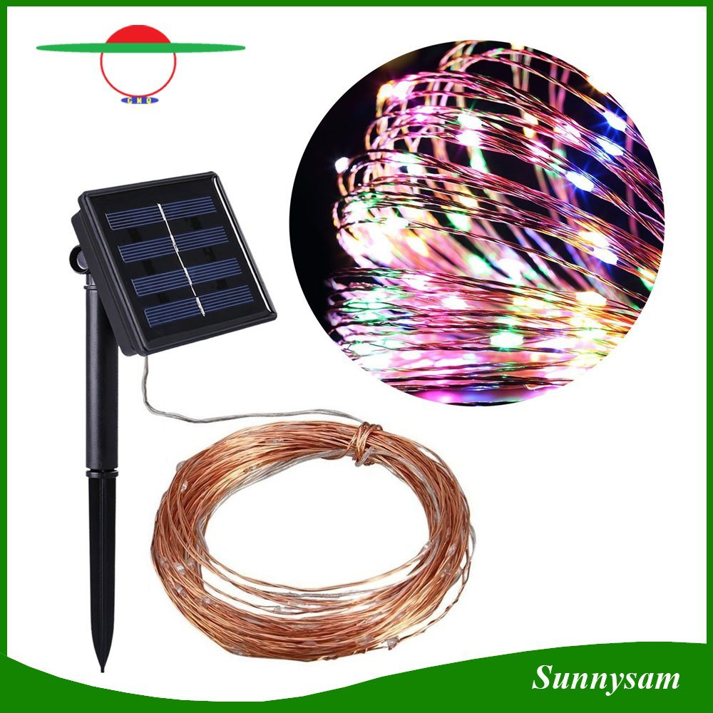 Christmas Trees Decotation Landscape Insert 100LED Copper Wire Solar String Light with White/Warm White/ Colorful LED Light pictures & photos