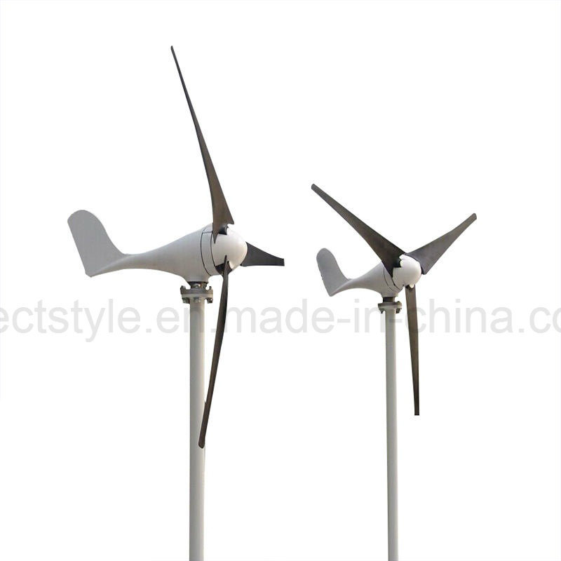 12V 24V 100W/200W/300W/400W Permanent Magnet Generator Horizontal Axis Three Blades Wind Turbine pictures & photos