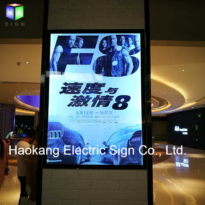 China 27X40 Movie Poster Light Box with Backlit Frame Advertising ...