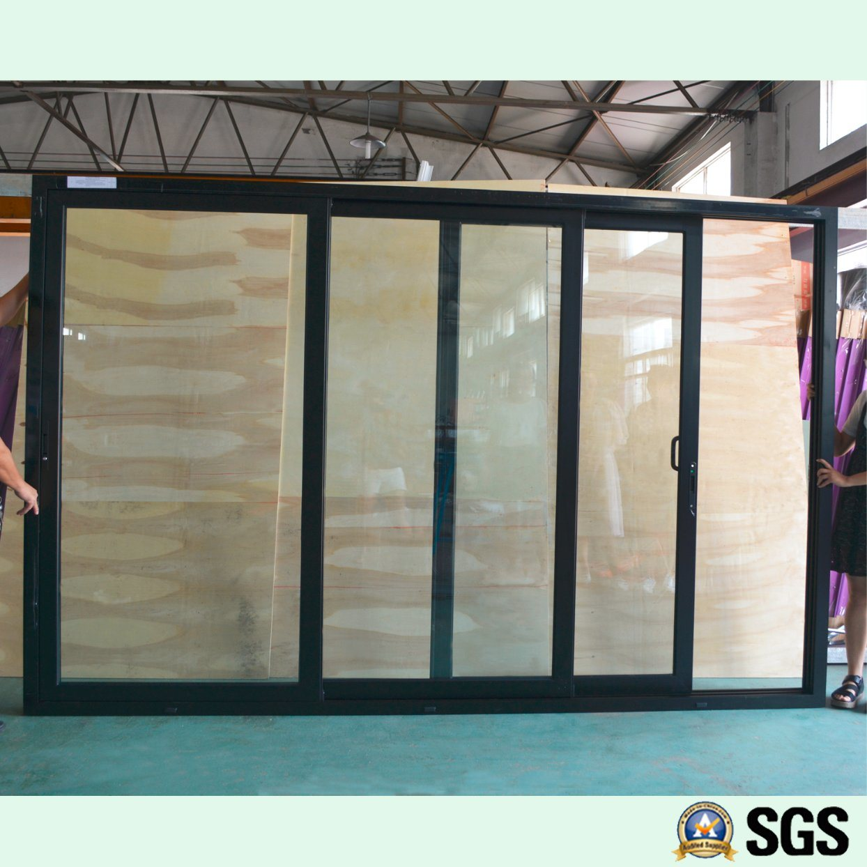 China 3 Track Aluminium Frame Sliding Door Window Aluminium Window
