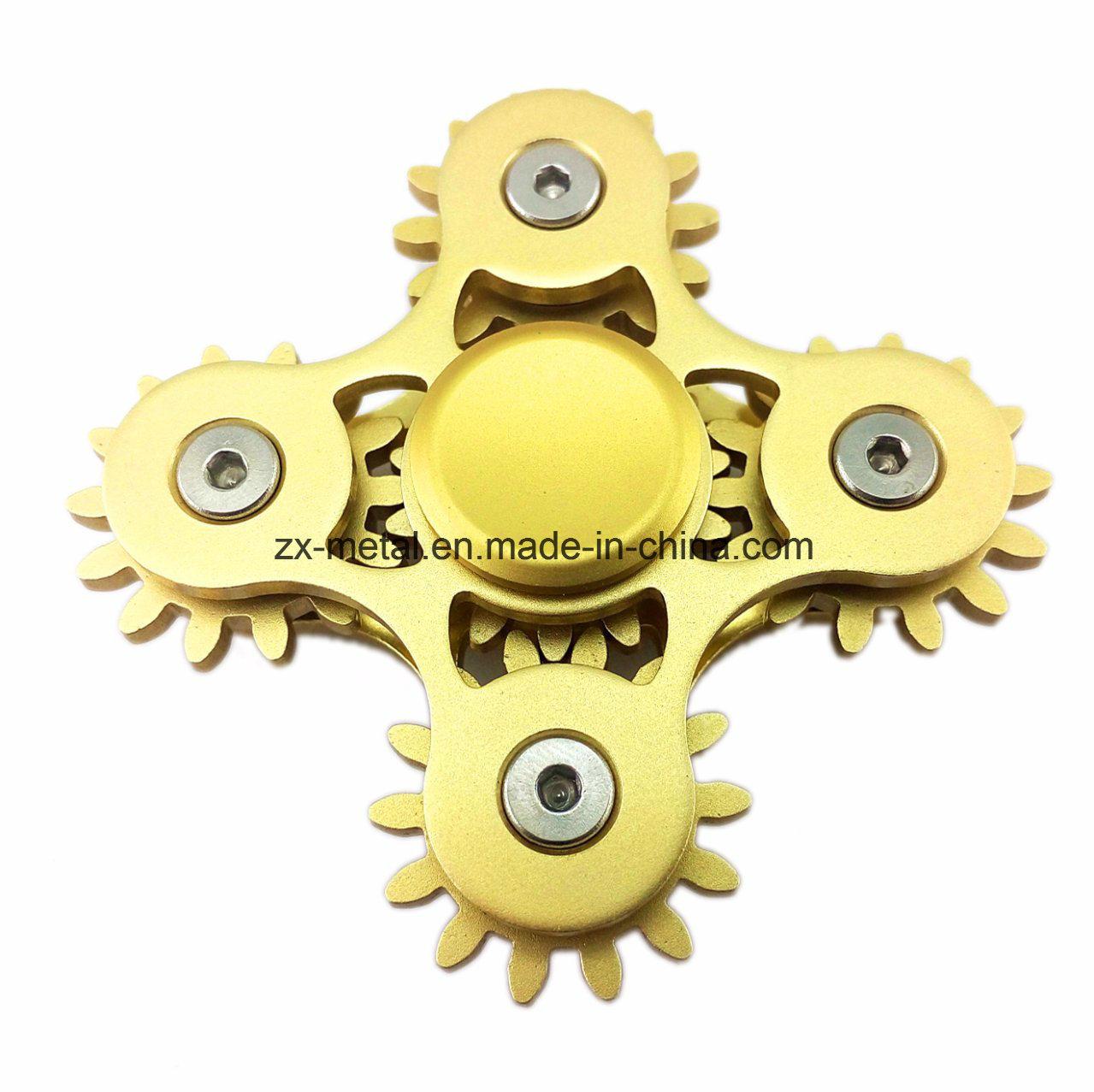 Metal Fidget Spinner Bronze Crosses Heavy Duty US Seller