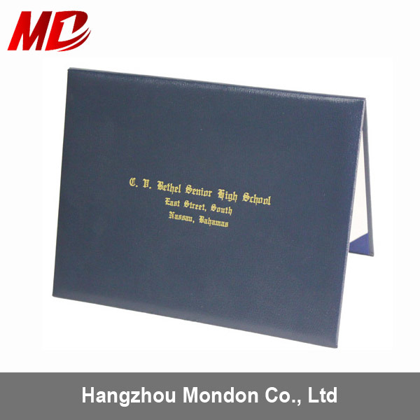 China High Quality Smooth Leatherette Certificate Folder with Custom ...