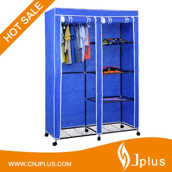 China Jp Wr125fabw Portable Non Woven Clothes Storage Rack Canvas Closet Wardrobe Bedroom