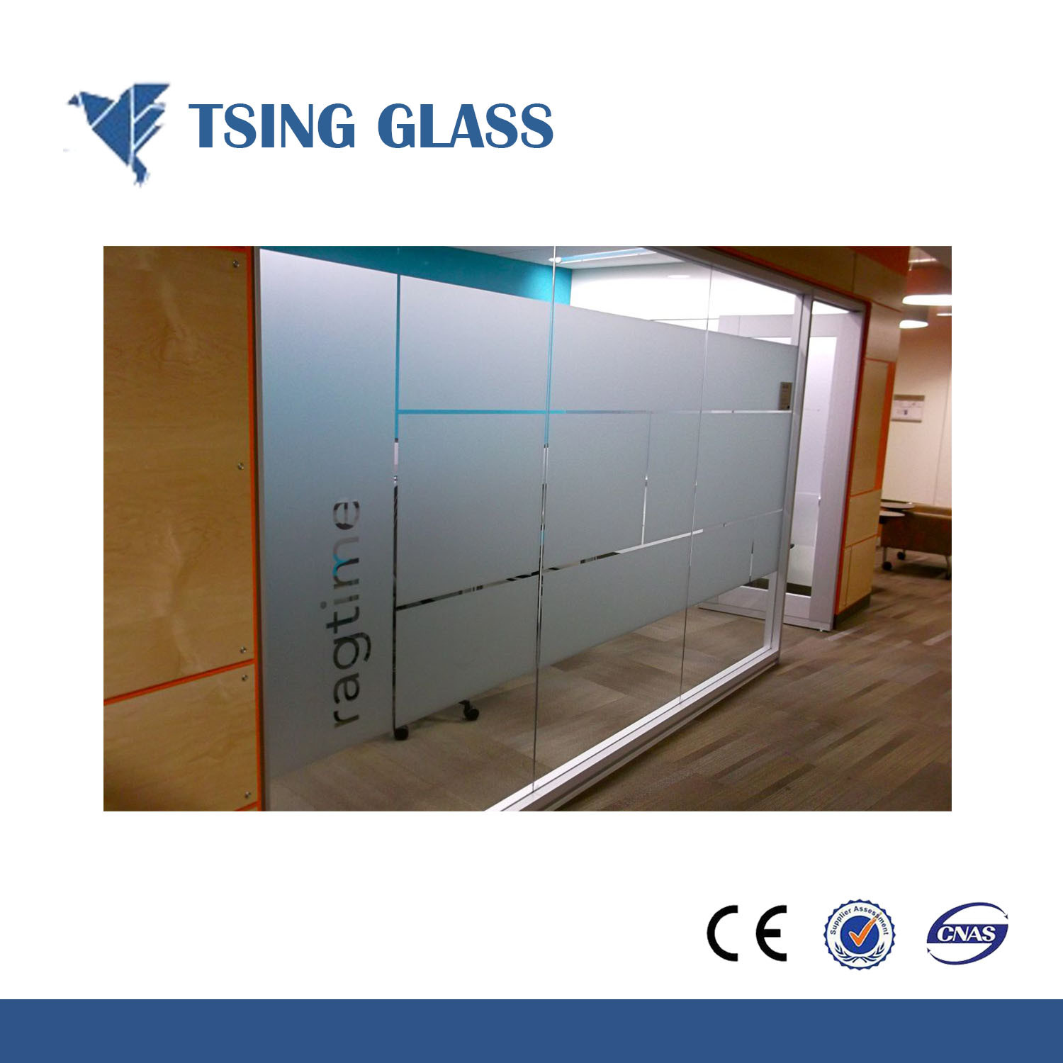 China 4 15mm Sandblasted Glass Frosted Glass Acid Etched