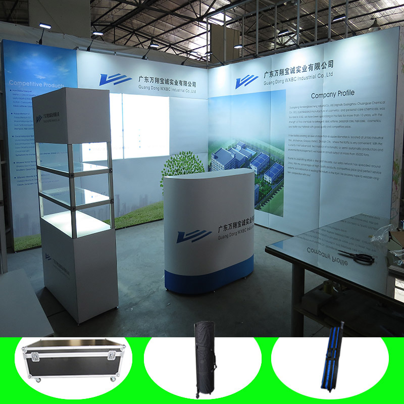 Custom Made Portable Modular Cosmetic Display Standard Exhibition Booth Stand