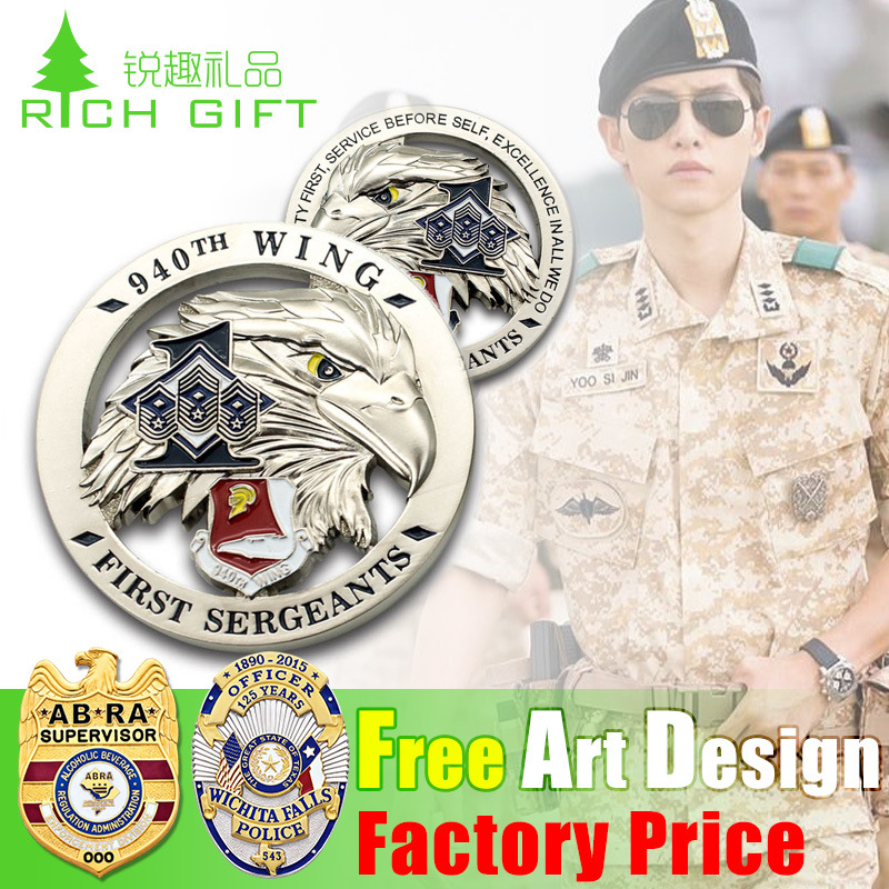 Custom Wholesale/Metal/Button/Pin/Tin/Police/Military/Emblem/Name/Enamel/Medal Badge (car badge) pictures & photos