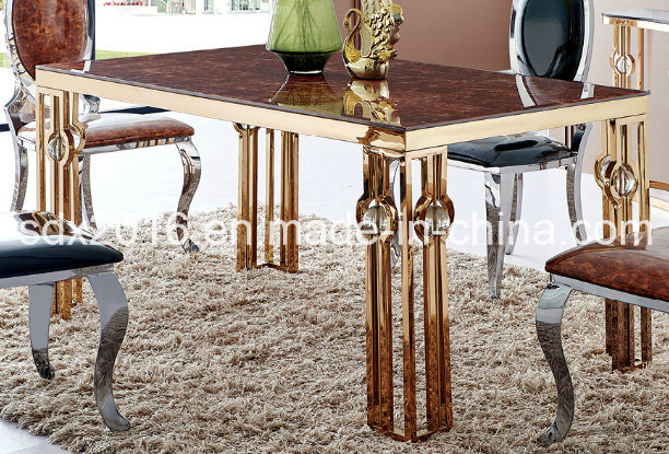 [Hot Item] Modern Style Living Room Stainless Steel Dining Table