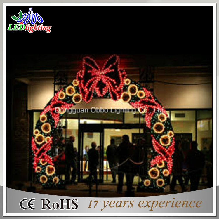 Hot Item 3m Christmas Led Lighted Garland Arch Lights For Super Market
