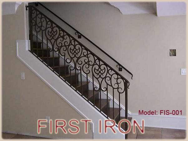 Barandilla de la escalera del hierro labrado fis 001 - Barandilla de escalera ...