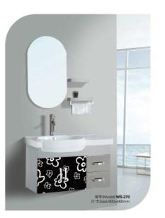 Armário de banheiro com a bacia em cerâmica - 3