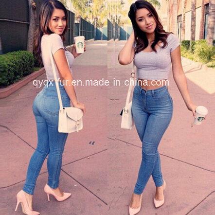 China La Mujer Pantalones Jeans De Moda Muy Hermoso Comprar Pantalones Skinny Estilo De Moda Con La Perla Dec Y Transpirable Mujer Pantalones Vaqueros En Es Made In China Com