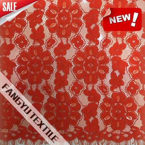 Populares de gran forma de flor de tela de encaje de algodón