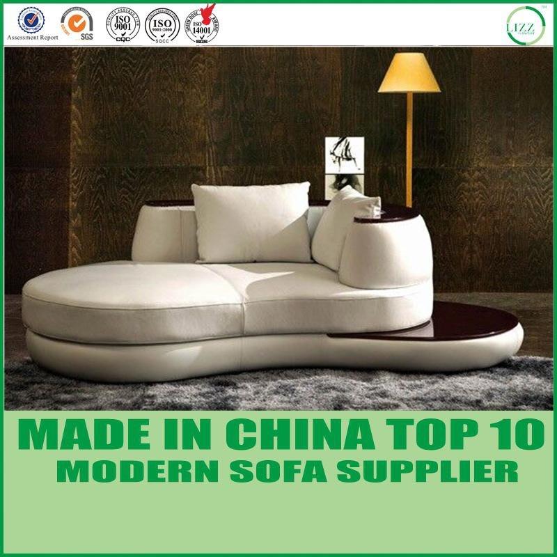 Divani Casa salon moderne cuir canapé de coupe à angle arrondi