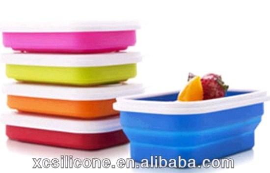 Para retirar os alimentos do recipiente de almoço comida de Silicone (JG-3864)