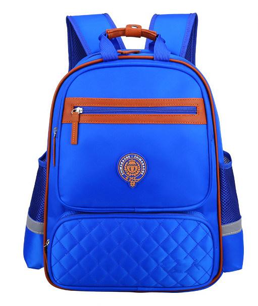 Navy Blue Schoolbag Customized Logo Boy's Girl's Schoolbag ZH-Sbk010