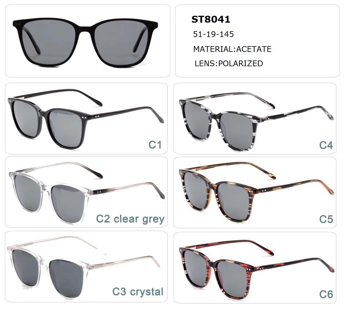 L'acétate de lunettes de soleil
