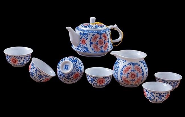 Oferta 8 PCS Conjunto de vajilla de porcelana, juego de té