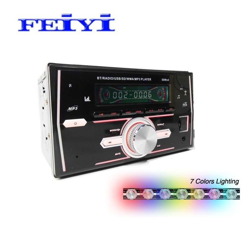 2 DIN autoradio FM SD USB MP3 Bluetooth A2DP dans le tableau de bord