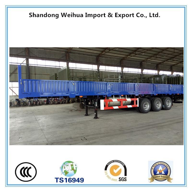 China 60t de carga de la utilidad de remolque. La pared lateral semi ...