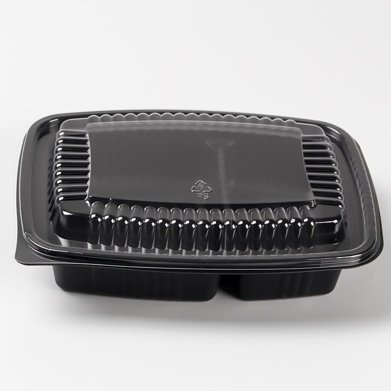 Los contenedores de almacenamiento de alimentos de plástico con tapas