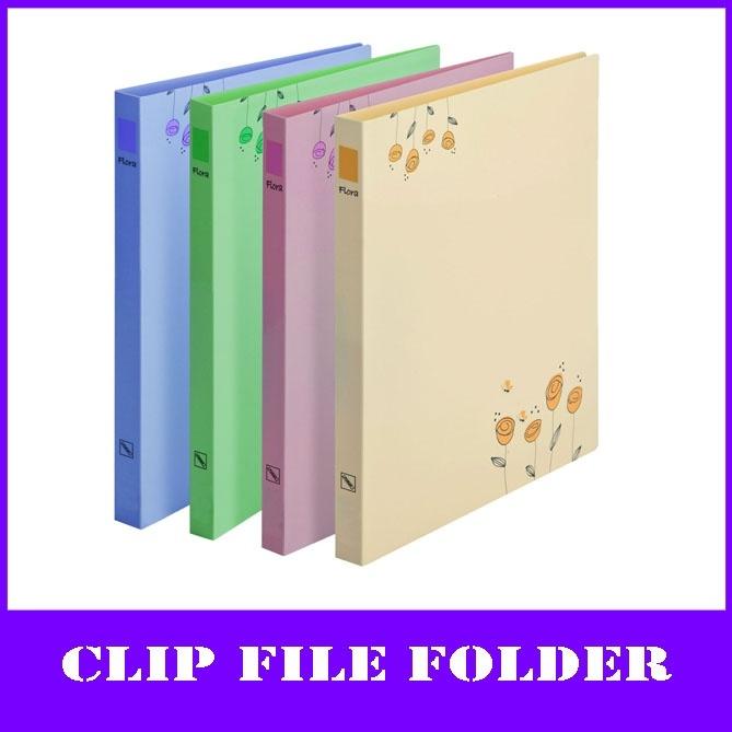 As flores de moda uma pasta de arquivo PP4 (com clip e board)