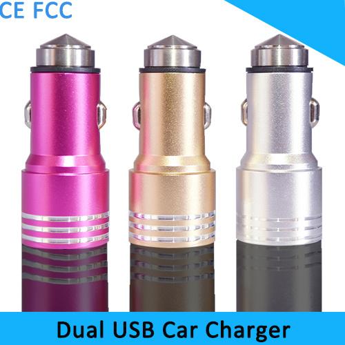 Новый 2 с двумя портами USB с двойной металлической автомобильного зарядного устройства, безопасность молотка автомобильное зарядное устройство