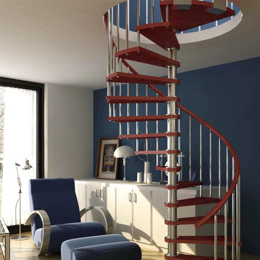 Barriere Escalier En Colimaçon chine petit espace de l'escalier en spirale en pvc Étapes