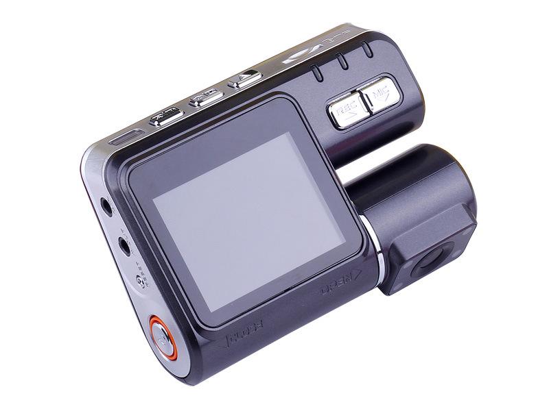 Zwarte doos voor auto met dubbele camera (I1000)