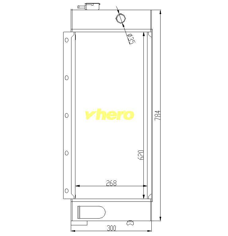 Autoteil-Kühlsystem-Auto-Kühler für technisches Fahrzeug XCMG 80 breit