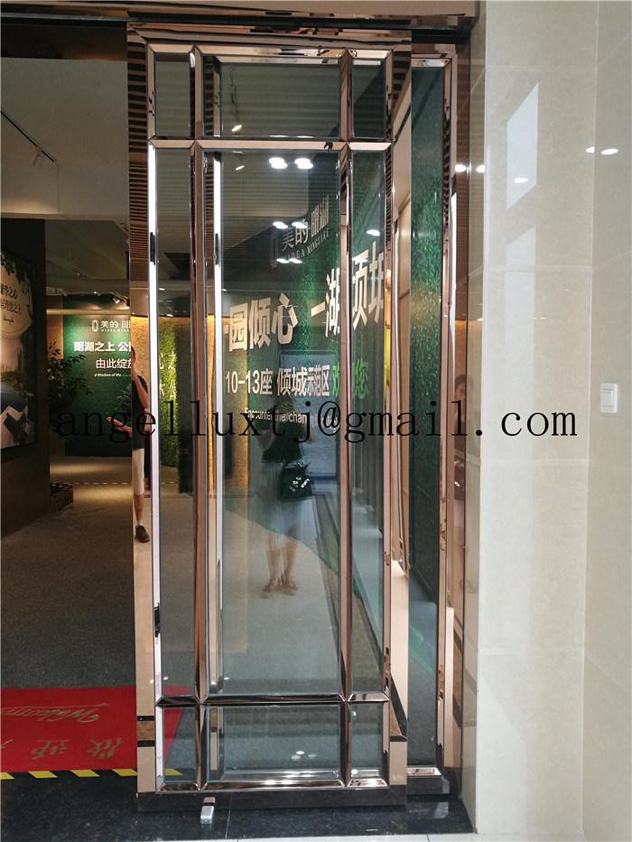 Foto de Acabado de espejo oro rosa marco de la puerta de acero ...