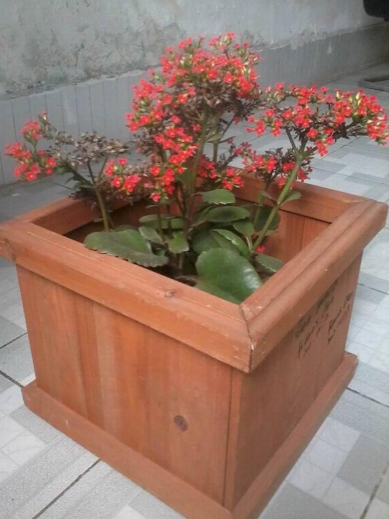 Sembradora de Flor de madera