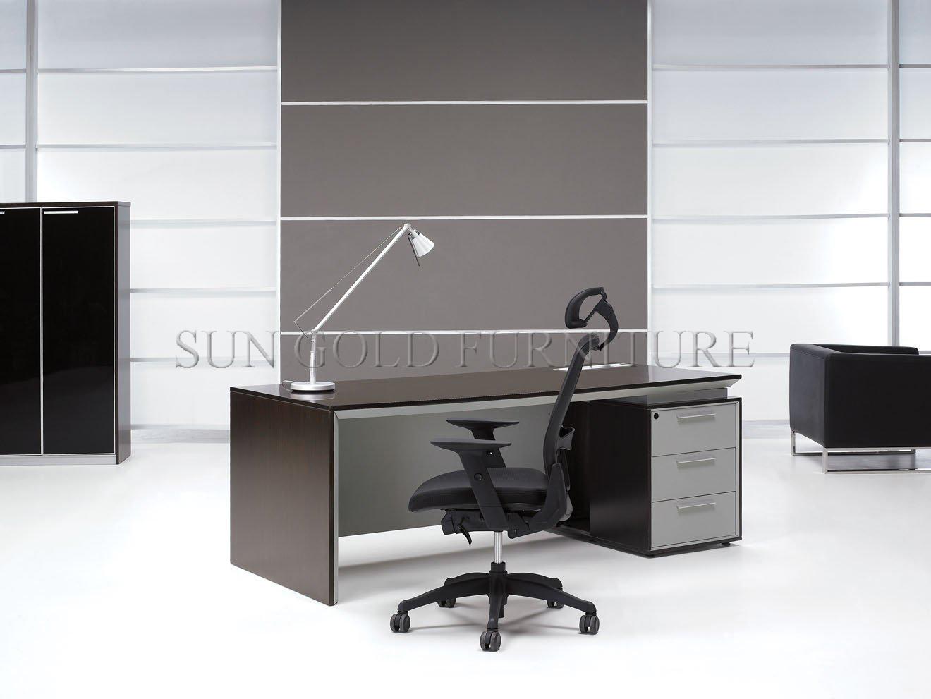 Mdf bureau moderne haut de gamme un bureau exécutif bureau table