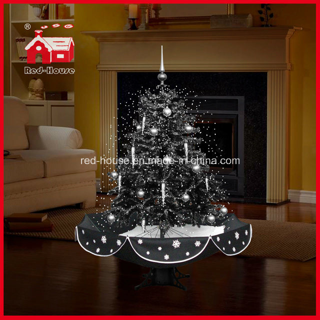 Sneeuwende Kerstboom Met De Gevoelige Basis Van De Paraplu Van