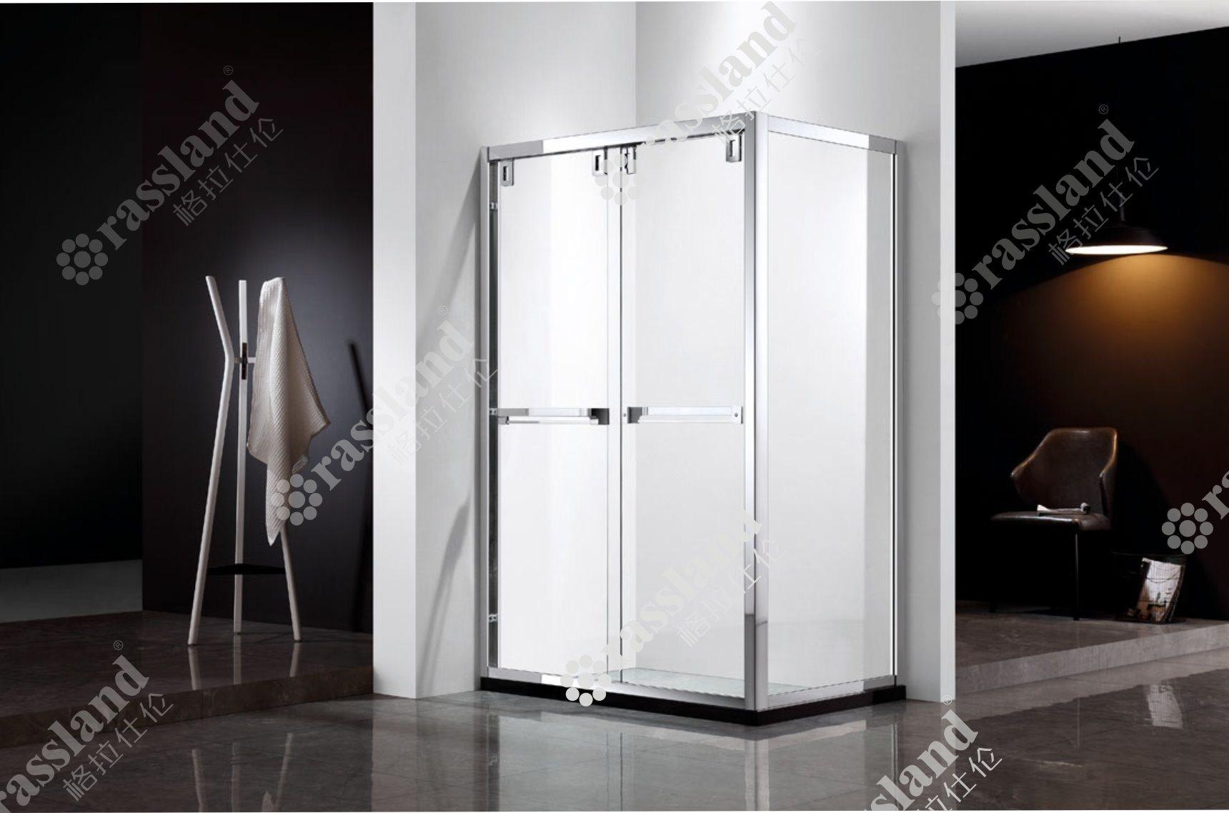 Atest ha progettato personalizzare facendo scorrere la doccia rettangolare di vetro di lusso della stanza da bagno dell'hotel