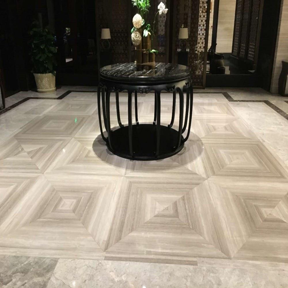 En marbre blanc noir poli des pierres de granite pour la coupe de la taille, comptoirs, le pavage, l'étage