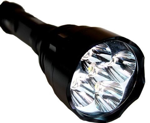 Linterna LED con 5 CREE Q5, 3*18650 Batería 1200LM