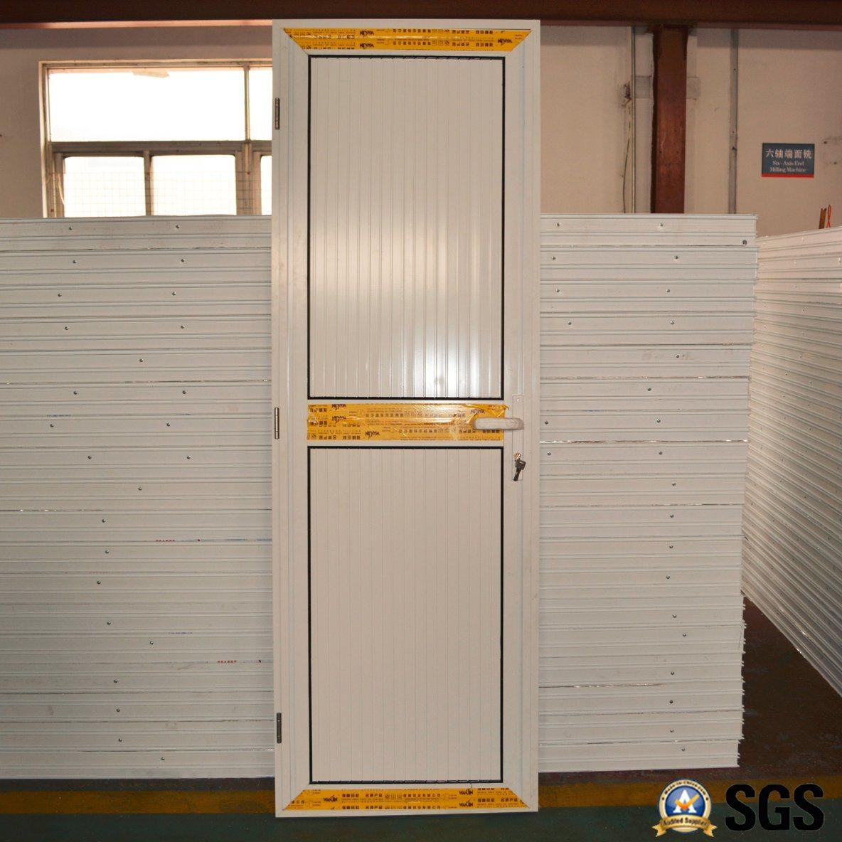 Puerta de aluminio revestida del marco del polvo blanco del color ...