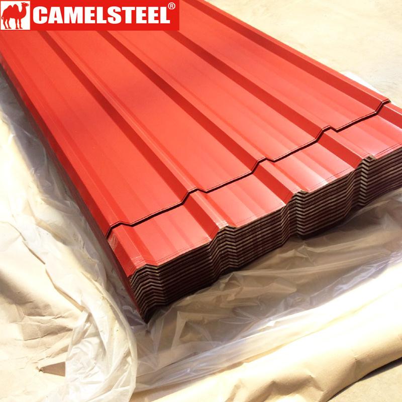 亜鉛物質的なGIカラー上塗を施してある波形の屋根ふきの鋼鉄タイルシート