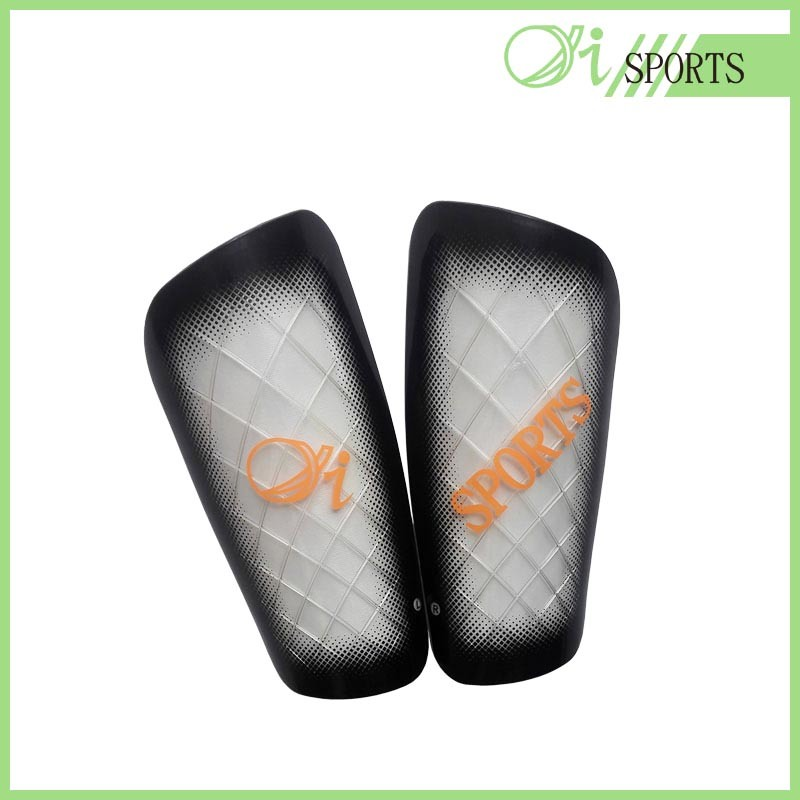 Alta qualidade de adultos China PU Football Shin Guard Shell/PP Shin Guard caneleiras de futebol
