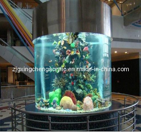 Tour moderne grand aquarium d 39 acrylique photo sur fr made for Prix aquarium rond