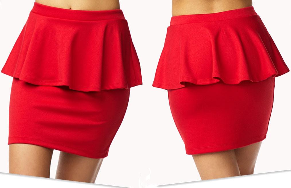 Resultado de imagen para falda peplum patrones