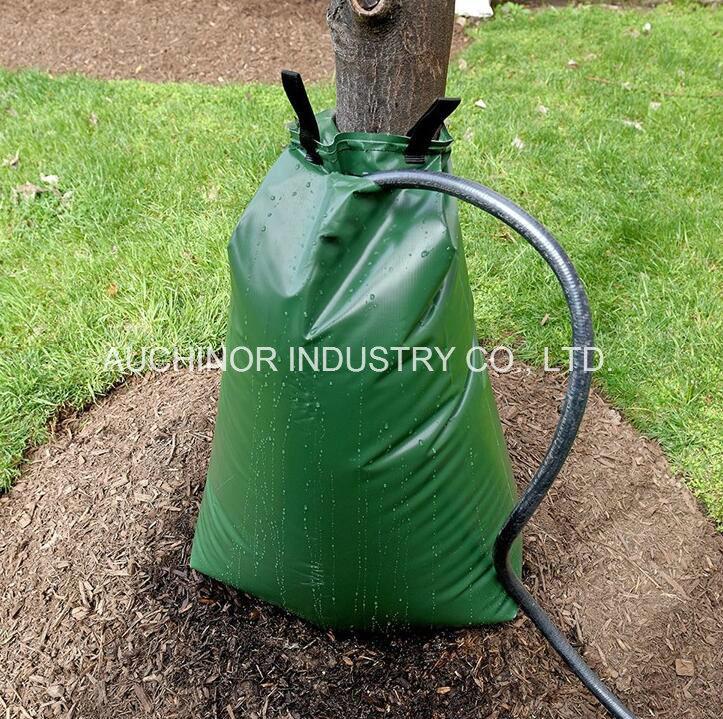 Sacchetto di innaffiatura di plastica dell'albero del PVC di gallone, sacchetto di innaffiatura della pianta